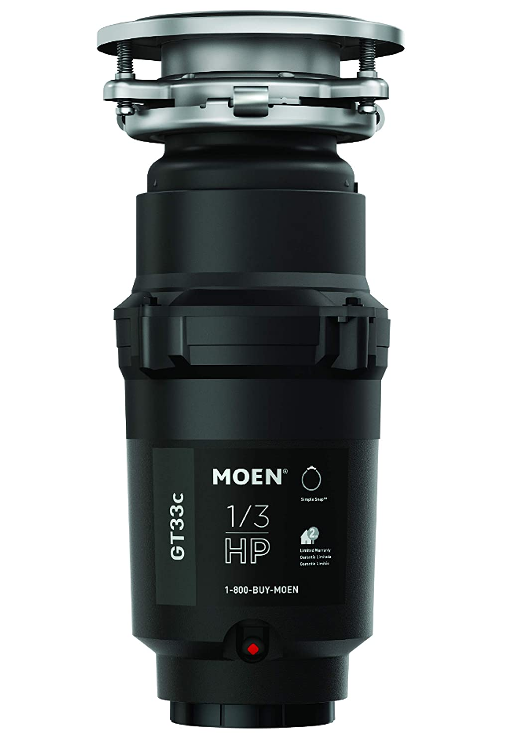 Moen GT33C GT Series 1/3 Horsepower Garbage Disposal with Fast Track Technology