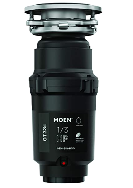 Moen GT33C GT Series 1/3 Horsepower Garbage Disposal, with with Fast