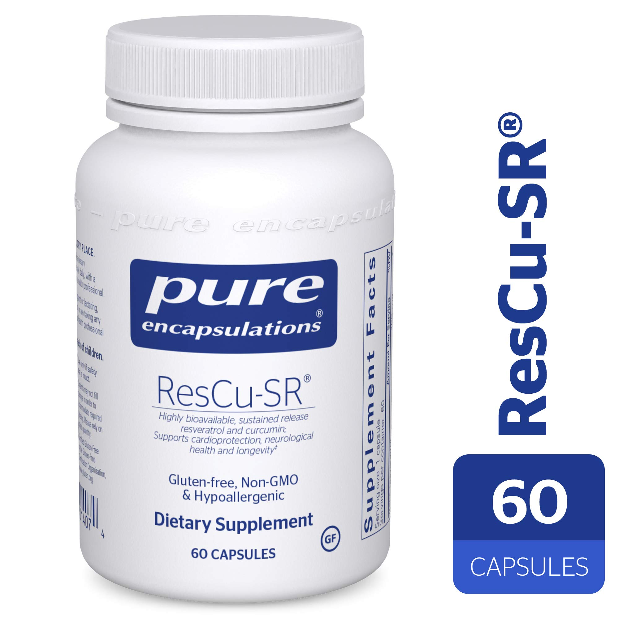 Pure Encapsulations - ResCu-SR - Hypoallergenic Dietary Supplement for Longevity, Cardio Support and Neurological Health* - 60 Capsules