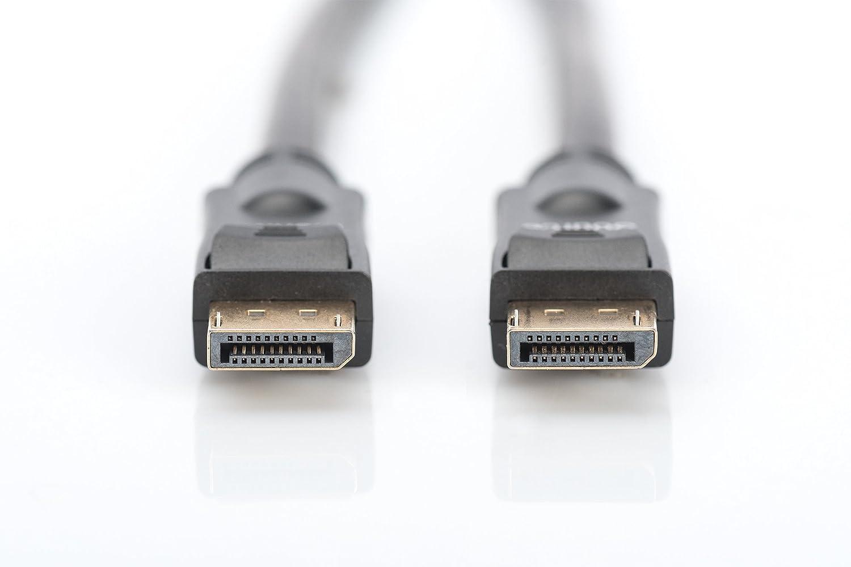 ASSMANN Electronic AK-340105-100-S 10m DisplayPort DisplayPort Negro Cable DisplayPort Cables displayport 10 m, DisplayPort, DisplayPort, Macho, Macho, Oro