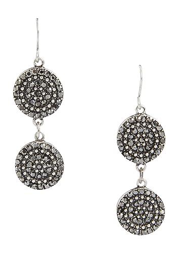 Maurices Rhinestone Circle Double Drop Earrings o6Djdinee