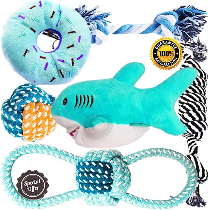 Top 9 Dog Toy Rope Shark With Squeak