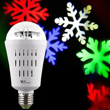 ff985689014 amzdeal – Bombilla de escena 3 W E27 Lámpara de salón con el efecto de nieve