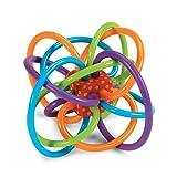 Manhattan Toy Winkel 曼哈顿玩具 曼哈顿球 固齿器 磨牙 摇铃和感官牙胶活动 幼儿乳牙训练手抓球(品牌直供 香港直邮)