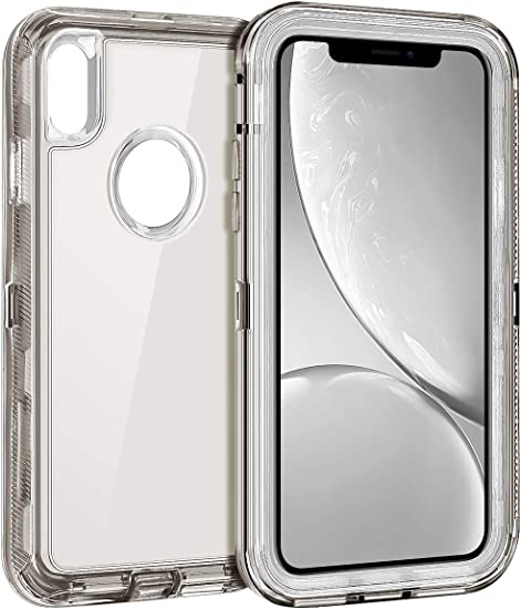 Amazon Com Coolden Hybrid Clear Phone Case For Iphone Xr 6 1 Inches Heavy Duty Protective Dual Layer Shockproof Case With Hard Pc Bumper Soft Tpu Back For 2018 Release Apple Iphone Xr 10r