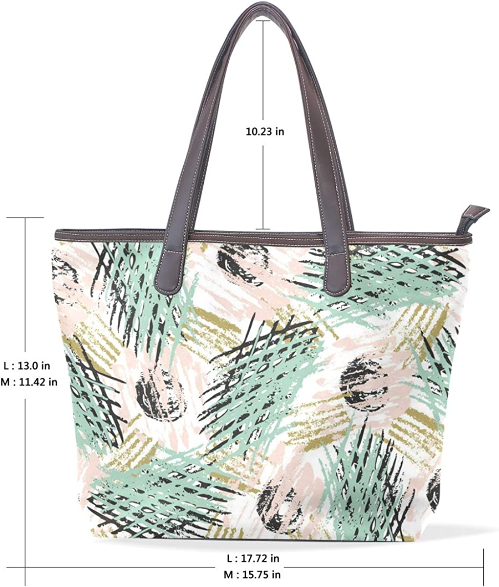 Complex Interlaced Marble PatternWomens Vintage Leather Tote Urban Style Satchel Tote