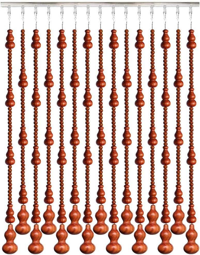 KTDT Cortinas moldeadas Cuerdas de Madera Colgante para Puerta Ventana Decoración de Pared Panel de Pantalla Divisor de habitación Personalizar (Tamaño: 25 Cuerdas -0.8x1.98m)