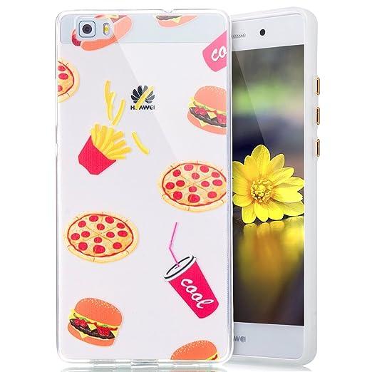 2 opinioni per Cover Custodia la Huawei P8 lite silicone,Ukayfe Copertura Elegante e Leggera