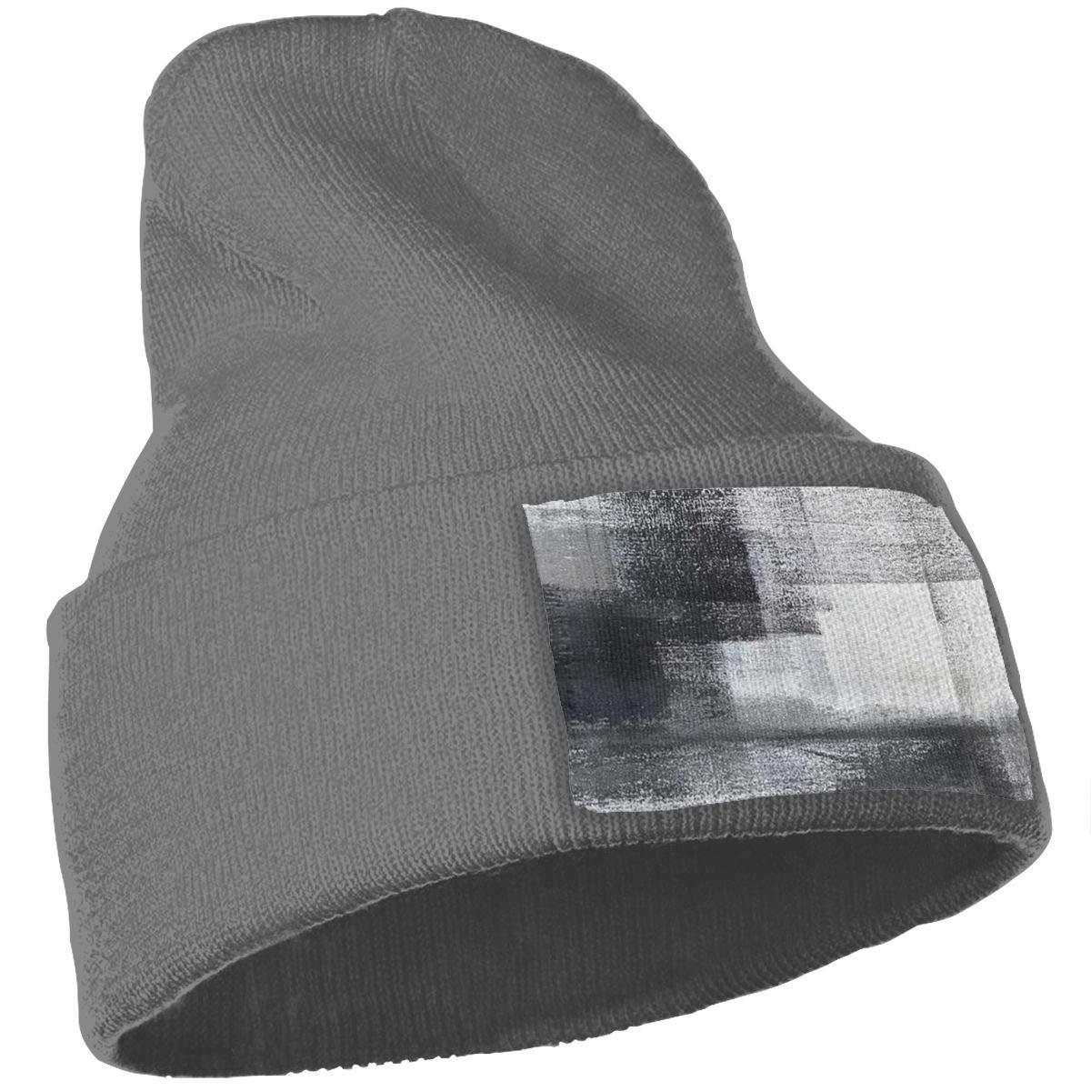 Mottled Mens Womens Stylish Knit Beanie Hat Slouchy Wrinkled Cap