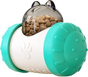Balance Swing Car Treat Dispensing Toy for Cats and Dogs - Bear Head Shaped IQ Treat Ball (Slow Feeder, Active Feeder, pet Puzzle Toy, Treat Dispensing Toy and Interactive pet Toy in one)