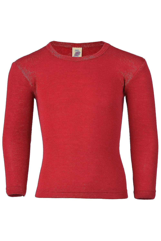 Kids Long Sleeve Thermal Shirt: Base Layer or Pajama Top, Organic Merino Wool Silk, Sizes 2-13 years Engel 707810-KIDS-WOOL-SHIRT