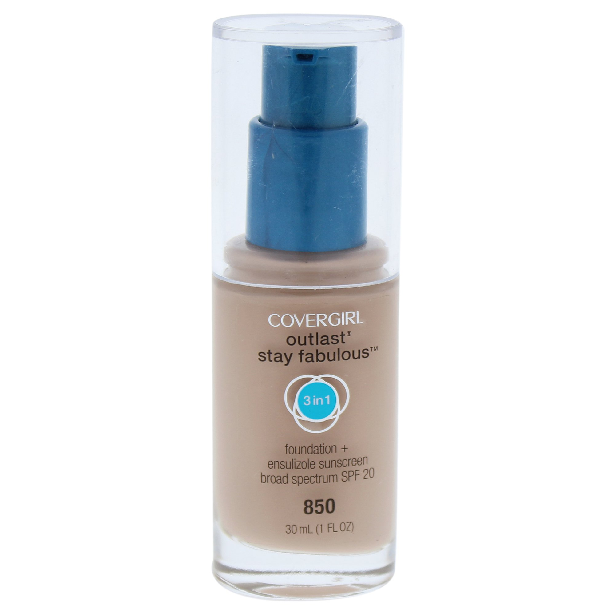 COVERGIRL Outlast All-Day Stay Fabulous 3-in-1 Foundation Creamy Beige, 1 oz