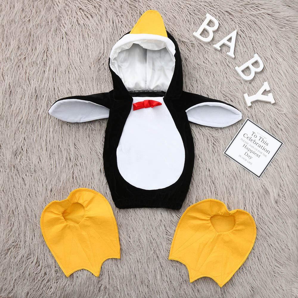 Fossen Disfraz Pinguino Ropa Bebe Niña Niña Tops con Cubierta del pie: Amazon.es: Ropa y accesorios