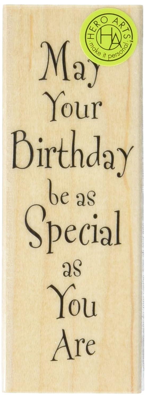 HERO Arts especial cumpleaños Woodblock sello con máquina de escribir letra: Amazon.es: Hogar