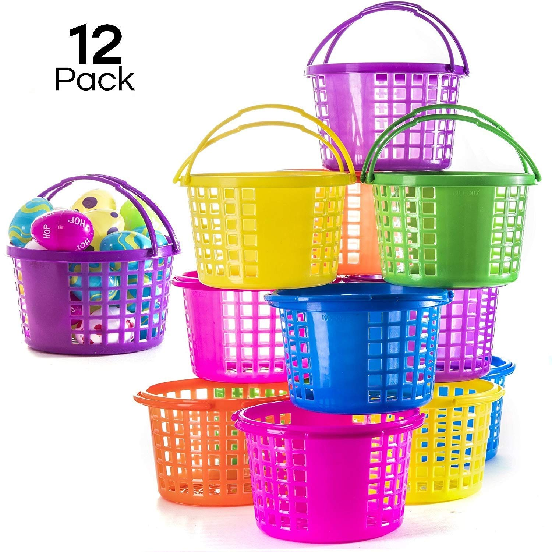 Prextex Easter Eggs Basket Great for Easter Egg Hunts and Easter Eggs Festival Easter Baskets