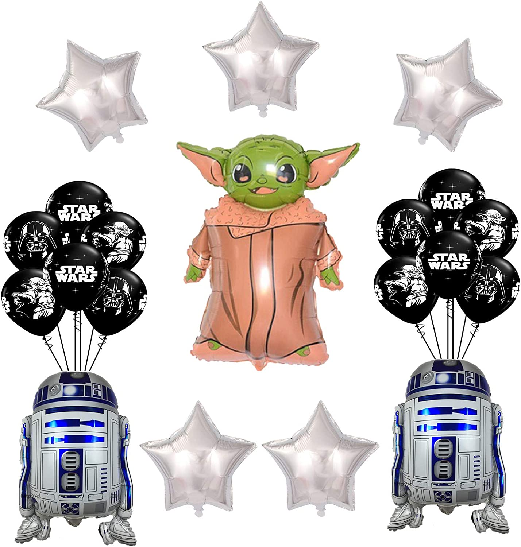 20 Pcs Star Wars Balloons, Star Wars Baby Yoda the Child Birthday Party Decorations