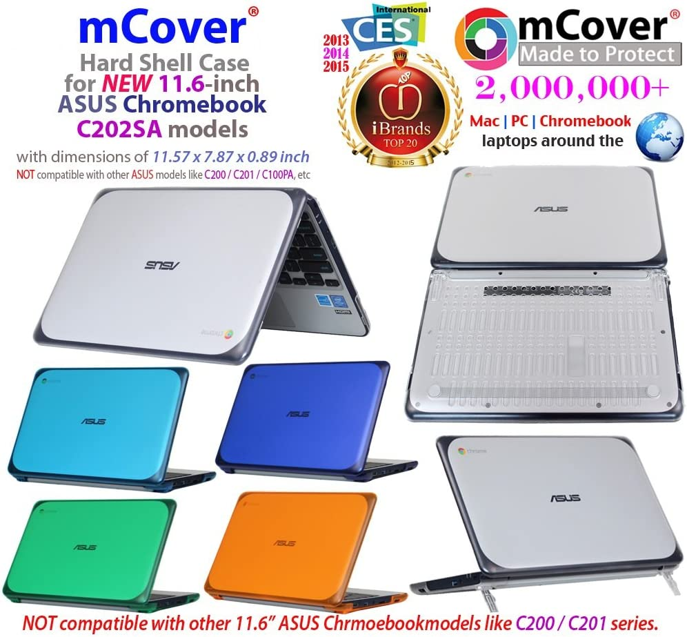 mCover mCover-ASUS-C201PA-11.6-PINK iPearl Hard Shell Case for 11.6 ASUS Chromebook C201 series laptop Pink