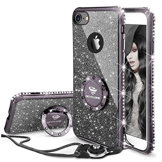 black sparkle iphone 8 case