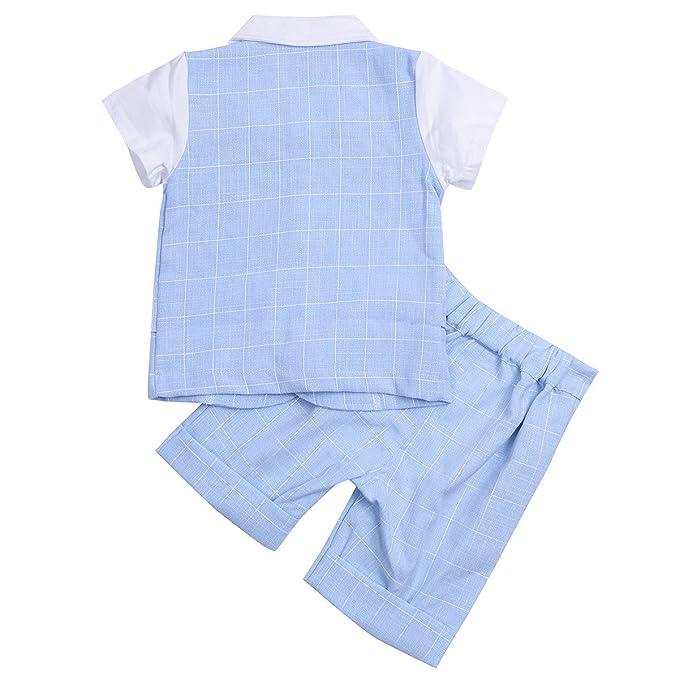 3000b7a3b043e YiZYiF Camisa de Bautizo Bebe Formal Ropa De Ceremonia Niño Conjunto Dos  Piezas Camiseta Pantalones para Bebé Niño 2-5 Años  Amazon.es  Ropa y  accesorios