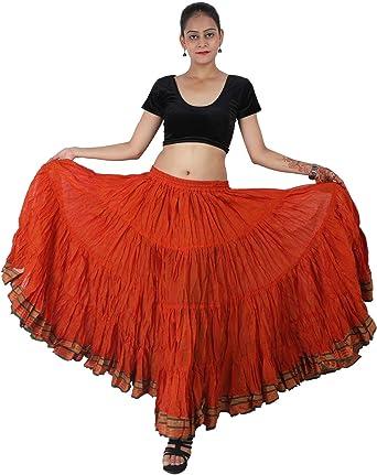 25 Yard Skirt 4 Tier Cotton Dip Dye Cotton Maxi Belly Dance