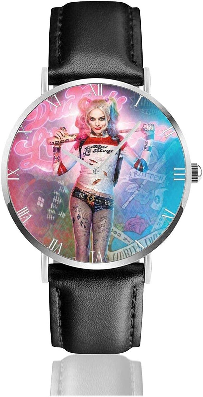 Relojes Anolog Negocio Cuarzo Cuero de PU Amable Relojes de Pulsera Wrist Watches Dibujos Animados