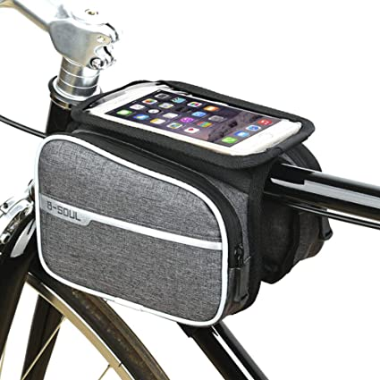 QWW Bolsa de Bicicleta Cuadro Impermeable Bolso Manillar ...