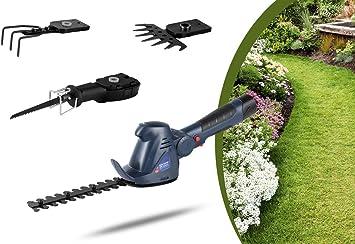 WOLFGANG Herramienta de jardín multifunción 4 en 1, Cortadora de césped, Desbrozadora, Cortasetos, Tijeras de jardín, Sin cable con batería, Li-ion, 1500mAh, 10.8V: Amazon.es: Bricolaje y herramientas
