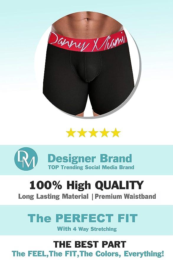d9d55776325e7 Danny Miami Men's Underwear - Boxer Briefs in Multiple Colors Patterns &  Designs - Athletic Low Rise Short Cut - New at Amazon Men's Clothing store: