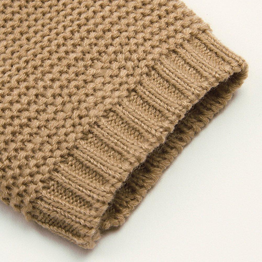Fashionwu Baby Girls Cute Bowknot Pullover Long Sleeve Hooded Sweaters Irregular Hem Outerwear Knitwear