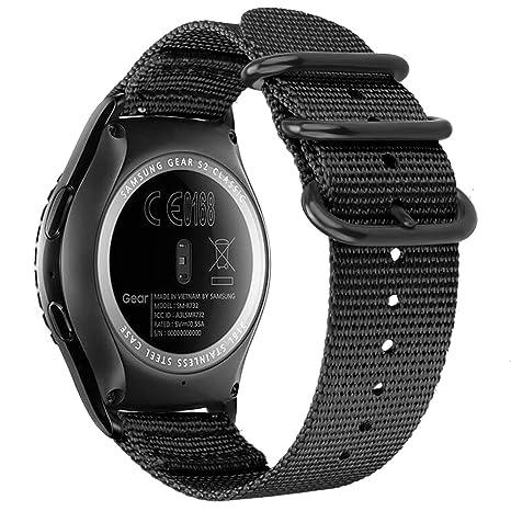 FINTIE Bracelet Compatible avec Samsung Galaxy Watch 42mm / Huawei Watch Active 2 / Gear Sport/Gear S2 Classic Montre Connectée - Bande de ...
