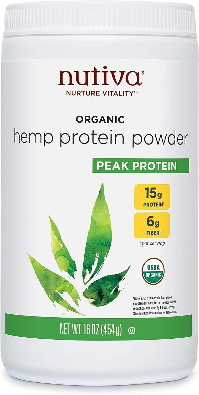 Nutiva, Orgánica Súper Alimentos, Cáñamo Proteína, 15g, 16oz (454g)