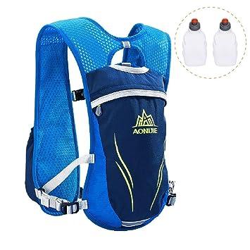 Azarxis Running Hydration Vest Mochila Pack Ultra Trail Race Chaleco Hidratacion 5.5L con contenedor de