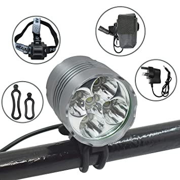 2400LM Cycling Bike Front Light LED Headlight USB Rechargeable 4 Modes TorchCRIT