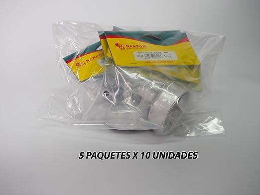 Sanfor 80259 Caja 50 Blíster embudo cafetera aluminio O.L. 3 tazas ...
