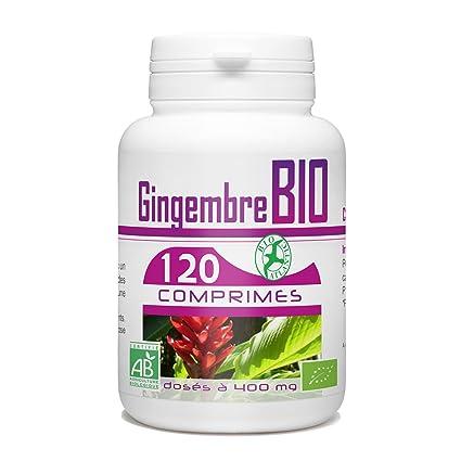 Jengibre BIO – 400 mg – 120 Pastillas