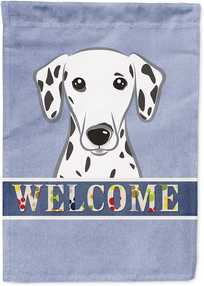 Caroline's Treasures BB1396GF Dalmatian Welcome Flag Garden Size, Small, Multicolor