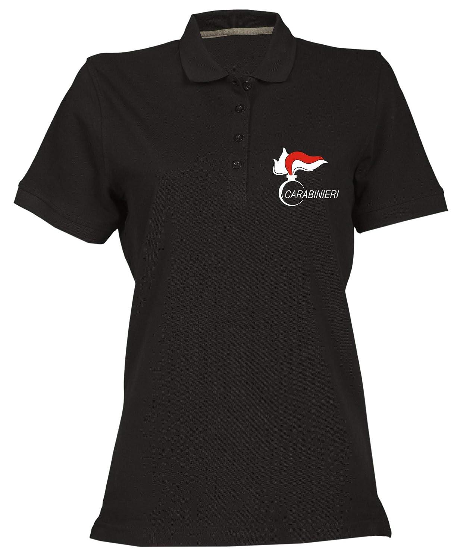 T-Shirtshock Polo Donna Nera OLDENG00436 CARABINIERI (3)