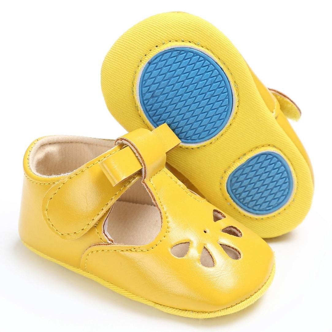 Webla Baby Girls Boys Soft Sole Crib Shoes Close Toe Sandals Toddler Anti-Slip Velcro Shoes