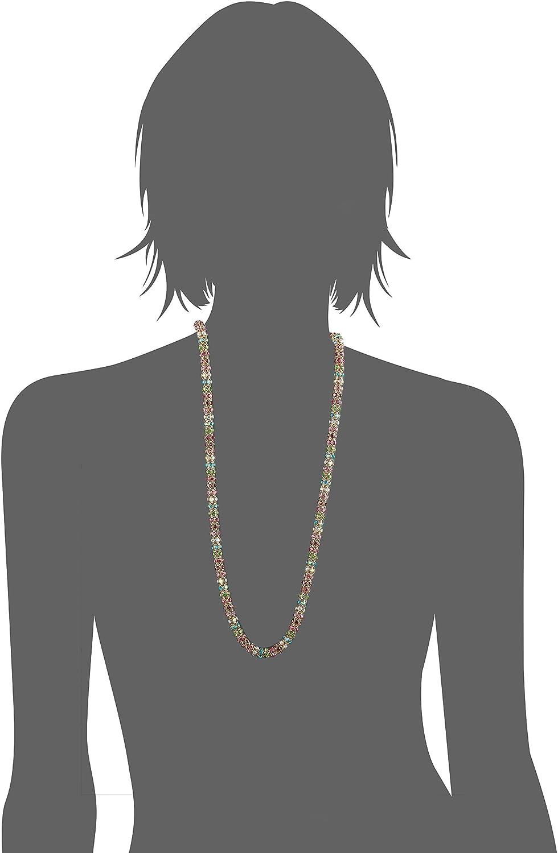 Multi GBG One Size Womens Mixed Stone Mesh Long Necklace Betsey Johnson