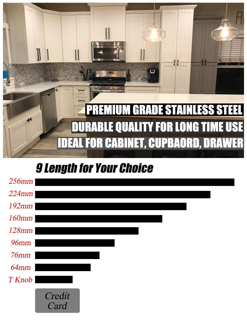 PinLin Lot de 10 Poignee de Meuble Cuisine 96mm Entraxe de trou Poignee de Porte Meuble Poign/ée de Acier Inoxydable Vis inclus