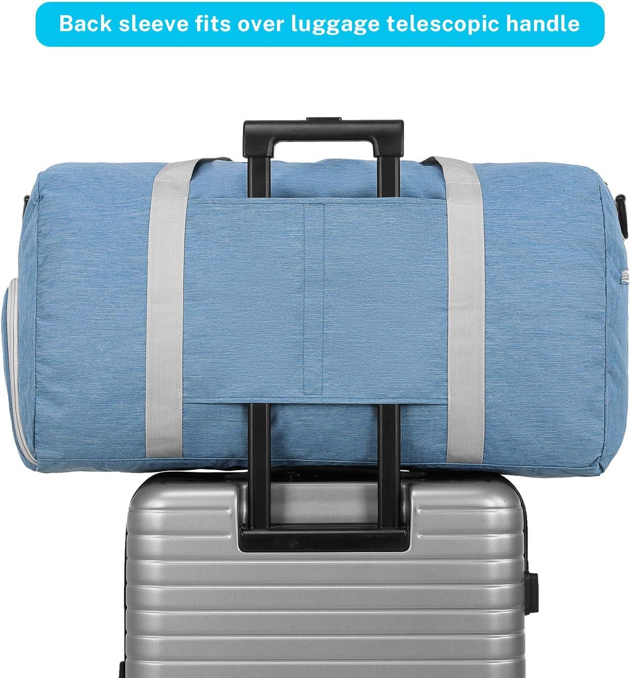 Gonex Sac de Voyage 65L Sac Pliable Sac Imperm/éable Pliant pour Camping Randonn/ée Voyage