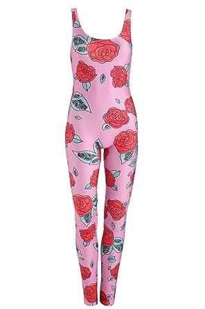 Rose Unitard Jumpsuit Playsuit Womens Tumblr Grunge Hipster Goth ...