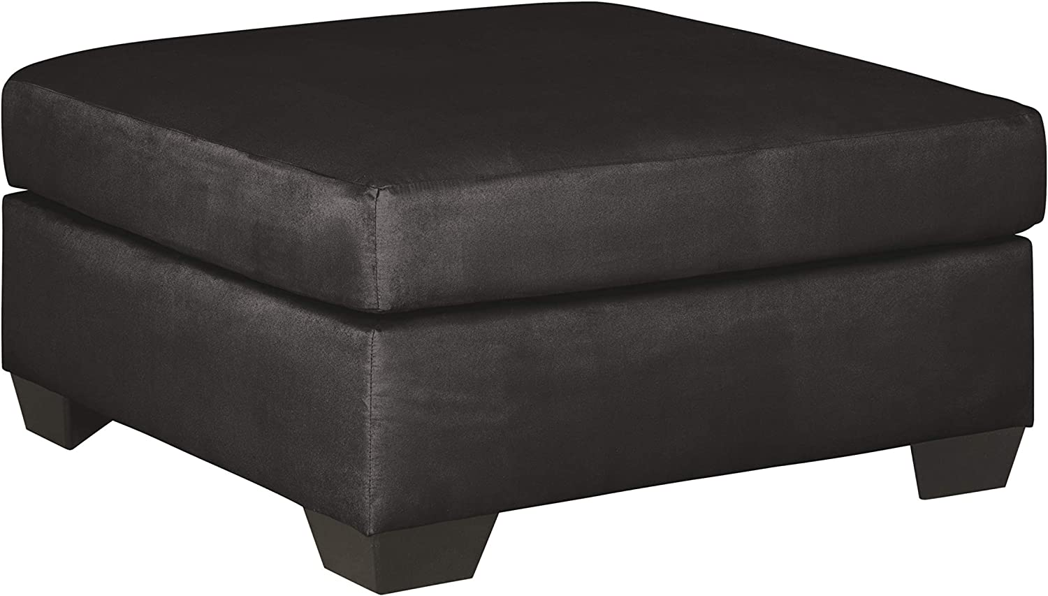 Signature Design by Ashley - Darcy Contemporary Oversized Accent Ottoman, Black