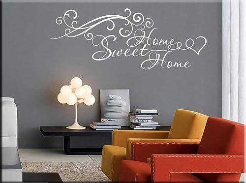 Adesivi Murali Home Sweet Home.Adesivi Murali Frasi Home Sweet Home Wall Stickers Casa Decorazioni Murali Per Arredare Home Sweet Home Amazon It Handmade