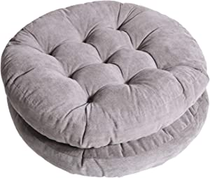 Tiita Patio Chair Cushions Round Seat Pillows Set of 2 Floor Pads 22