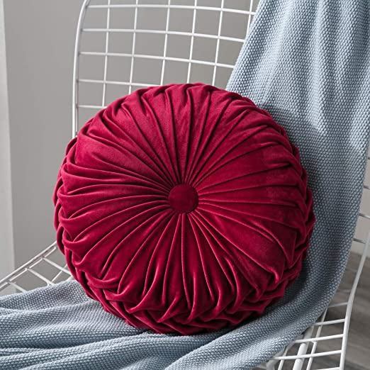 Suppyfly Round Velvet Pumpkin Seat Cushion Chair Cover Mat Couch Home Sofa Decor
