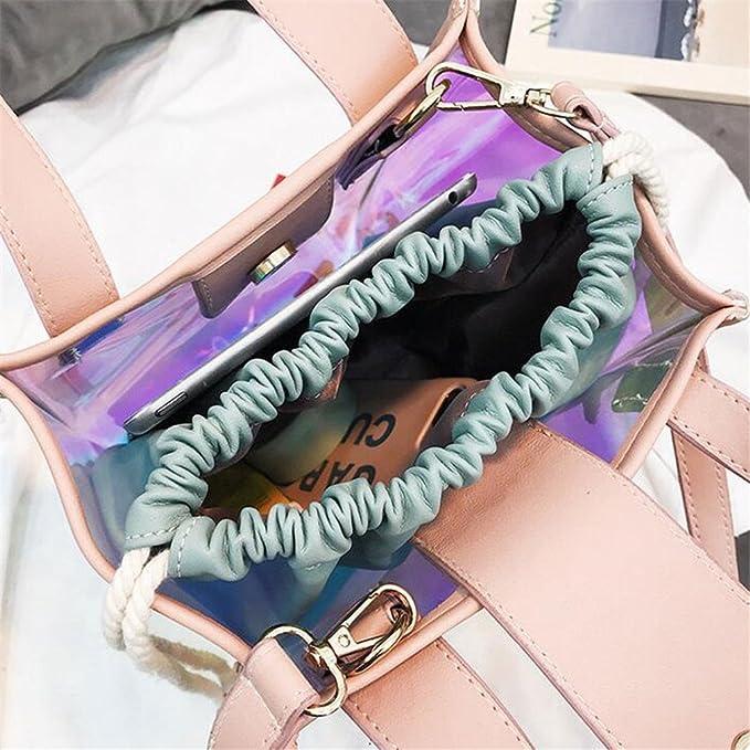 Amazon.com: UKEDKC Women Transparent Jelly Bag Female Holographic Bag Lady Casual Shoulder Messenger Bag Clear Handbag Set Green: Sports & Outdoors