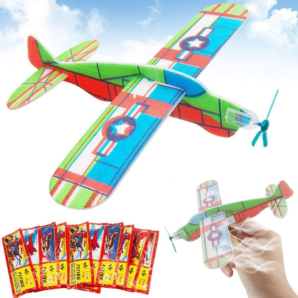 BESTZY Aviones planeadores de Plastico, Aviones planeadores Juguetes educativos para niños Adecuado Fiesta, Actividades para Padres e Hijos,Premios de Clase, Regalos - 24 PCS