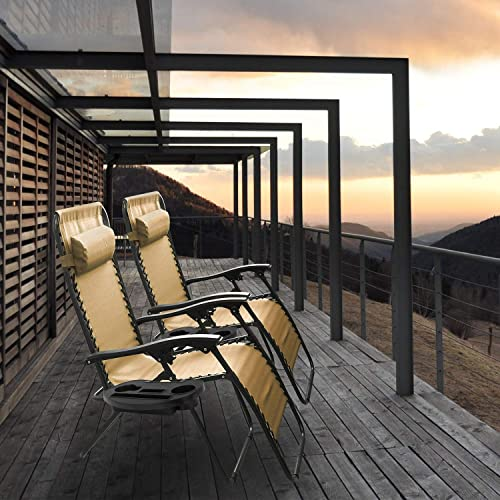 iMounTEK Set of 2 Adjustable Zero-Gravity Reclining Outdoor Lounge Chair