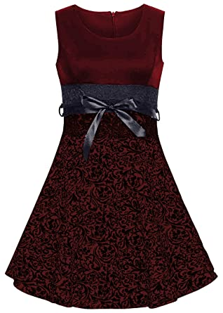 Emma & Giovanni - kleid knielang - Damen (S, Bordeaux): Amazon.de ...